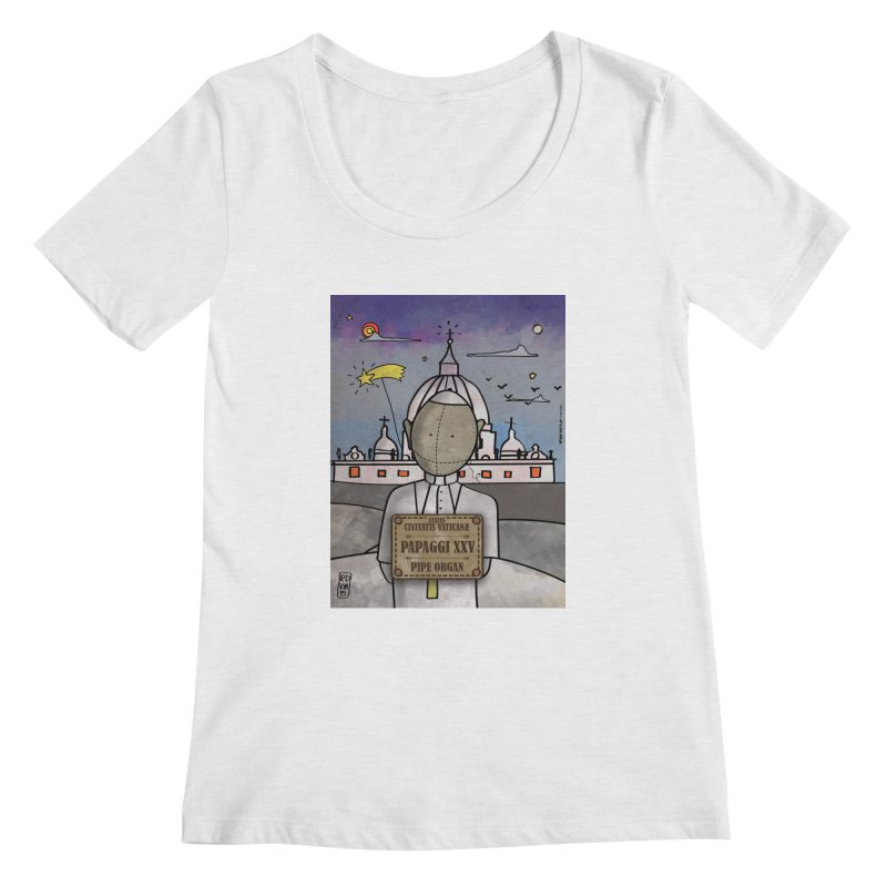 PAPAGGI XXV_Pipe Organ Women's Regular Scoop Neck by ZEROSTILE'S ARTIST SHOP