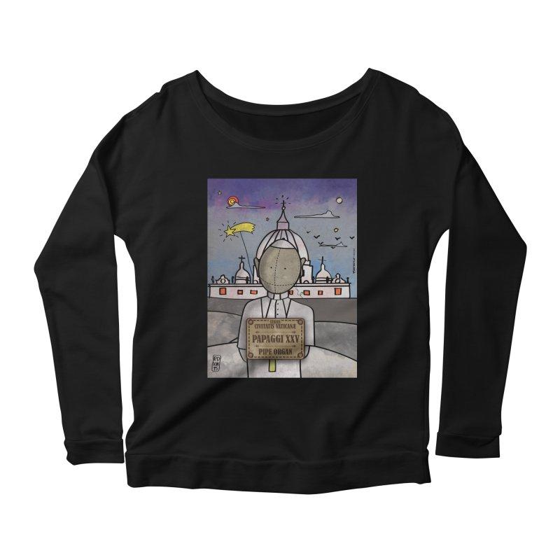 PAPAGGI XXV_Pipe Organ Women's Scoop Neck Longsleeve T-Shirt by ZEROSTILE'S ARTIST SHOP