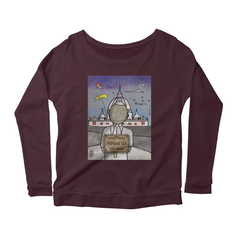PAPAGGI XXV_Pipe Organ Women's Scoop Neck Longsleeve T-Shirt by ZEROSTILE'S ARTIST SHOP