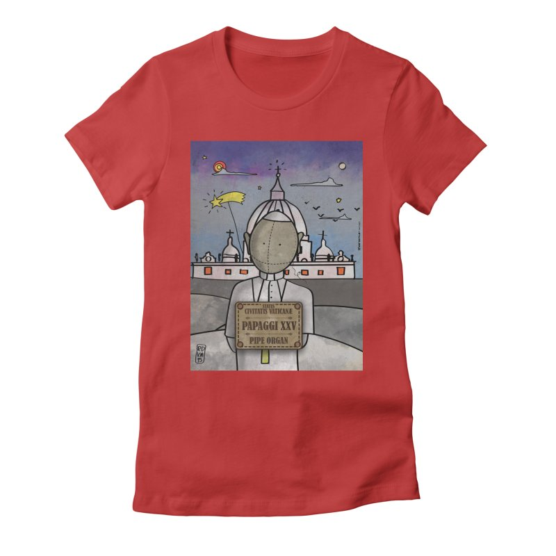 PAPAGGI XXV_Pipe Organ Women's Fitted T-Shirt by ZEROSTILE'S ARTIST SHOP