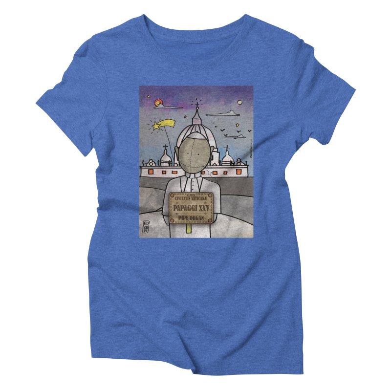 PAPAGGI XXV_Pipe Organ Women's Triblend T-Shirt by ZEROSTILE'S ARTIST SHOP