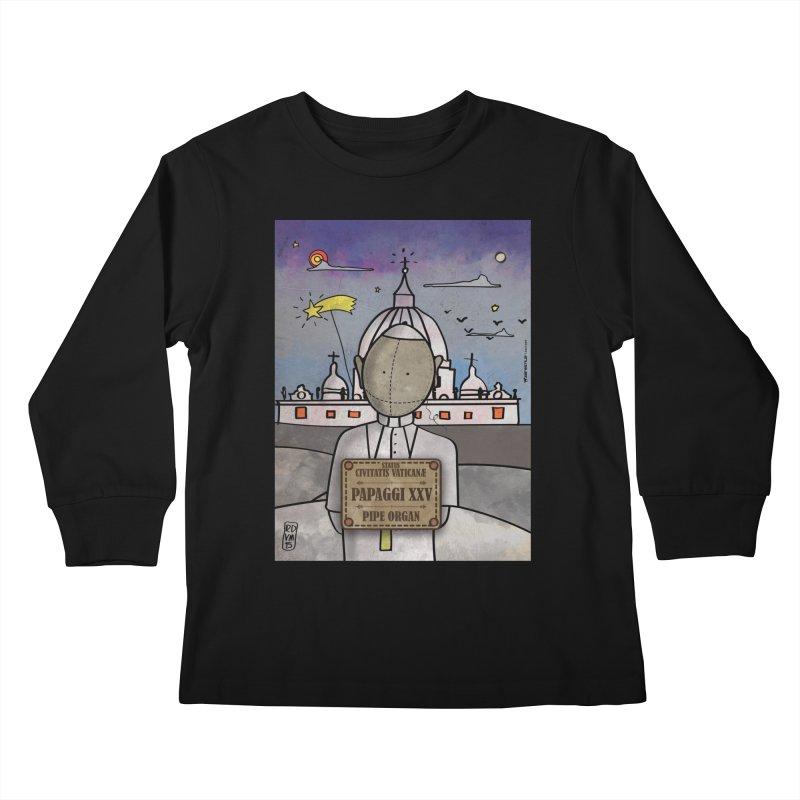 PAPAGGI XXV_Pipe Organ Kids Longsleeve T-Shirt by ZEROSTILE'S ARTIST SHOP