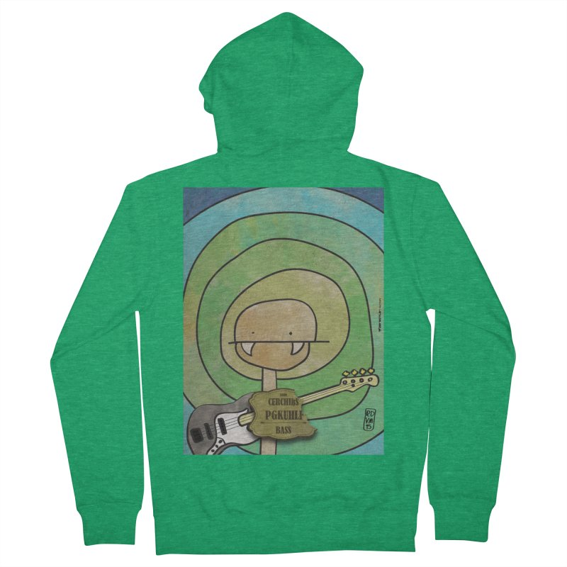 PGKUHLF_Bass Men's French Terry Zip-Up Hoody by ZEROSTILE'S ARTIST SHOP