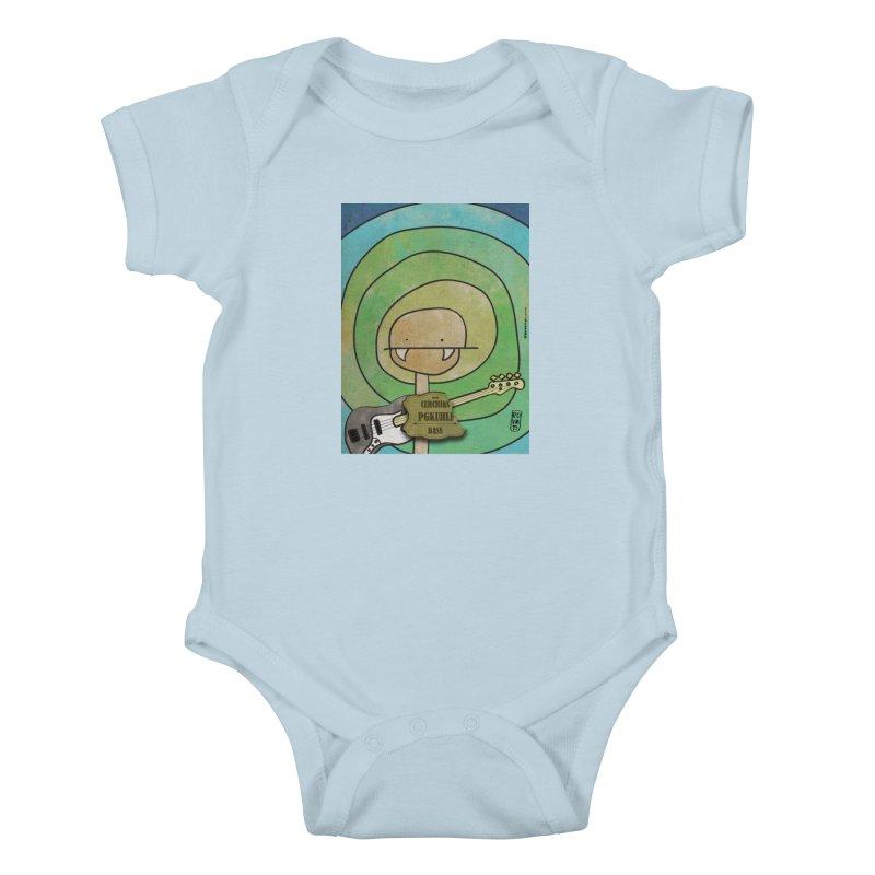 PGKUHLF_Bass Kids Baby Bodysuit by ZEROSTILE'S ARTIST SHOP