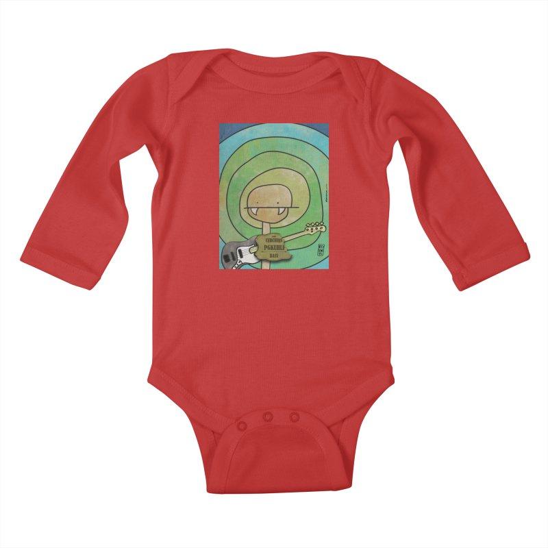 PGKUHLF_Bass Kids Baby Longsleeve Bodysuit by ZEROSTILE'S ARTIST SHOP