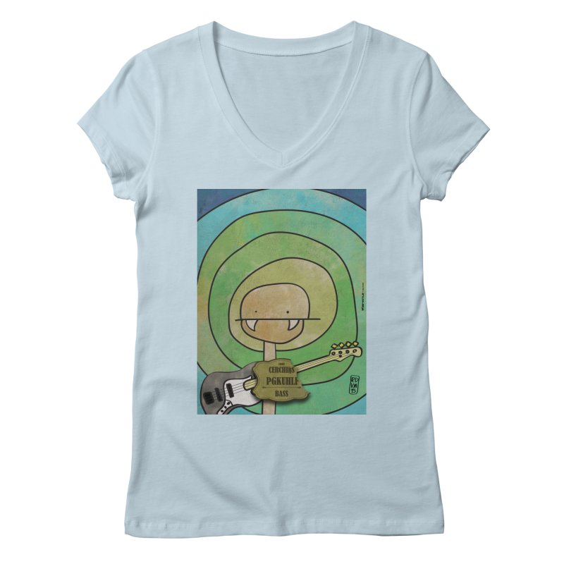 PGKUHLF_Bass Women's Regular V-Neck by ZEROSTILE'S ARTIST SHOP