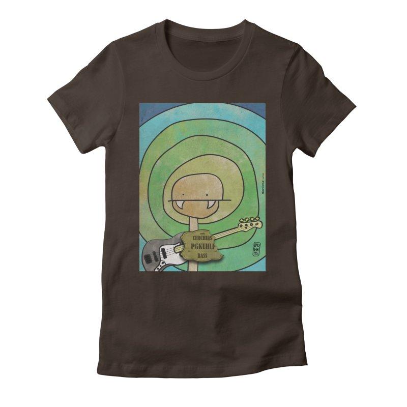 PGKUHLF_Bass Women's Fitted T-Shirt by ZEROSTILE'S ARTIST SHOP