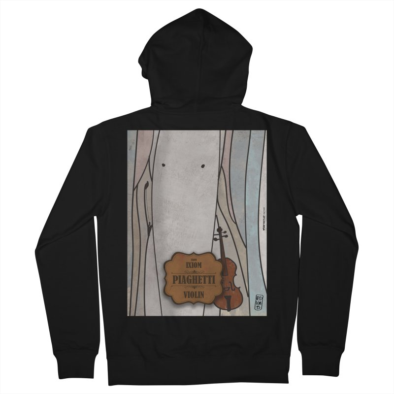 PIAGHETTI_Violin Women's French Terry Zip-Up Hoody by ZEROSTILE'S ARTIST SHOP