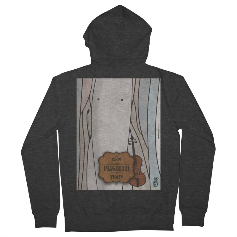 PIAGHETTI_Violin Men's French Terry Zip-Up Hoody by ZEROSTILE'S ARTIST SHOP
