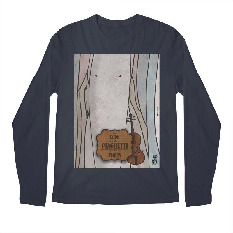 PIAGHETTI_Violin Men's Regular Longsleeve T-Shirt by ZEROSTILE'S ARTIST SHOP