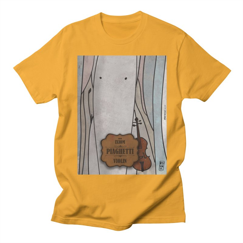 PIAGHETTI_Violin Men's Regular T-Shirt by ZEROSTILE'S ARTIST SHOP