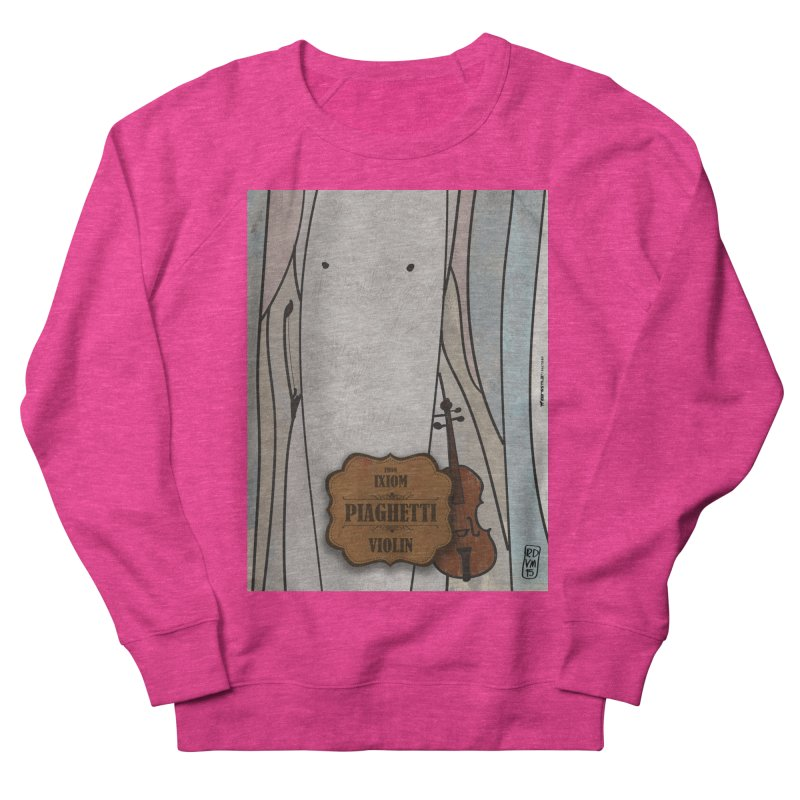PIAGHETTI_Violin Women's French Terry Sweatshirt by ZEROSTILE'S ARTIST SHOP