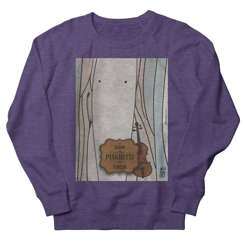 PIAGHETTI_Violin Men's French Terry Sweatshirt by ZEROSTILE'S ARTIST SHOP