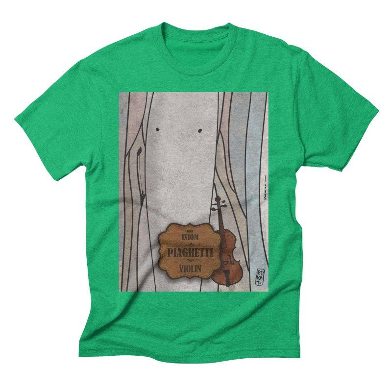 PIAGHETTI_Violin Men's Triblend T-Shirt by ZEROSTILE'S ARTIST SHOP