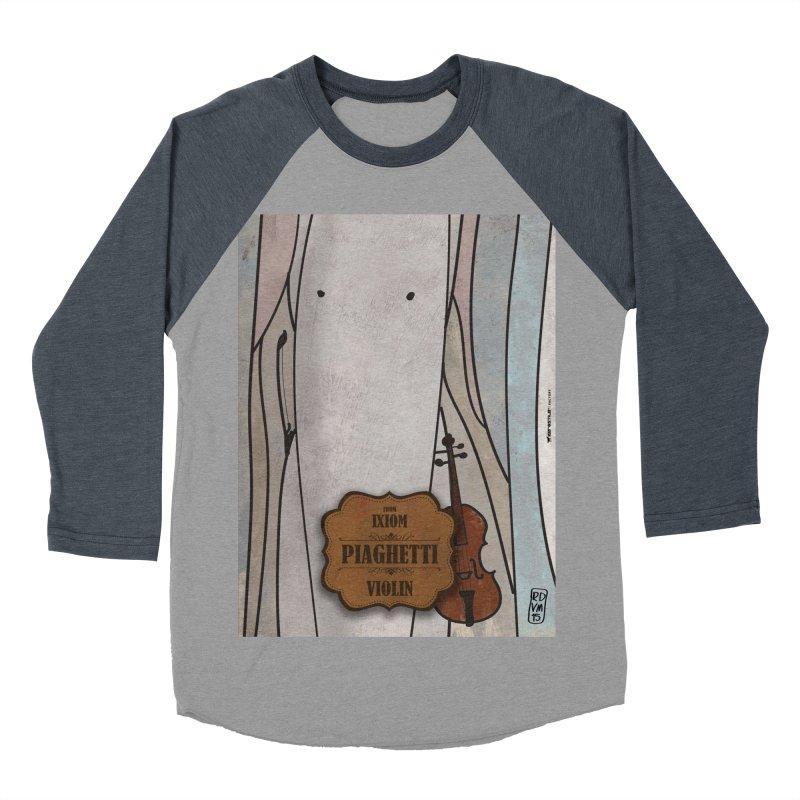 PIAGHETTI_Violin Men's Baseball Triblend Longsleeve T-Shirt by ZEROSTILE'S ARTIST SHOP