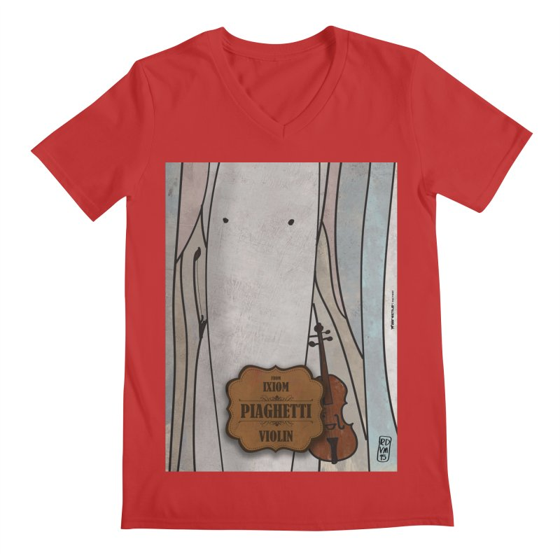 PIAGHETTI_Violin Men's V-Neck by ZEROSTILE'S ARTIST SHOP