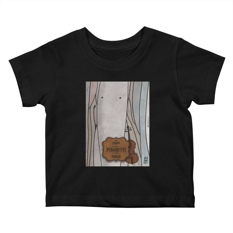 PIAGHETTI_Violin Kids Baby T-Shirt by ZEROSTILE'S ARTIST SHOP