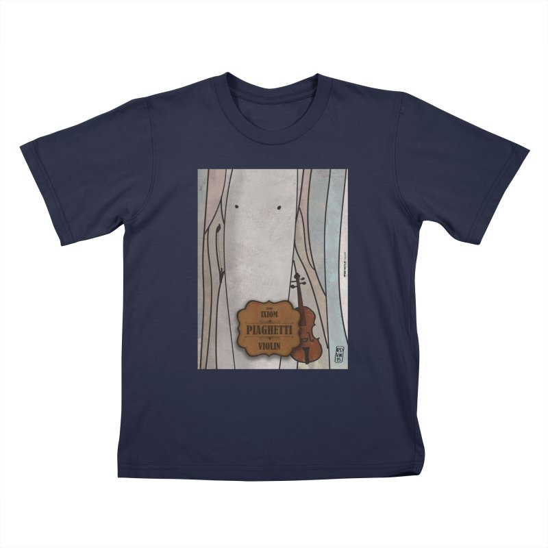 PIAGHETTI_Violin Kids T-Shirt by ZEROSTILE'S ARTIST SHOP