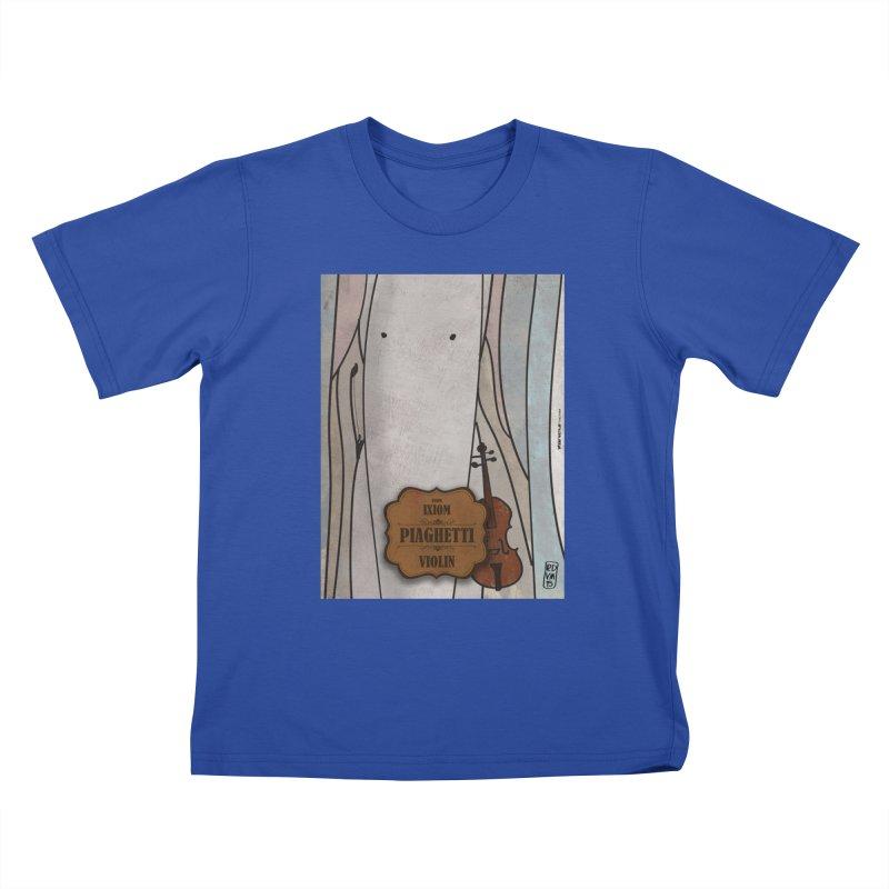 PIAGHETTI_Violin Kids T-Shirt by ZEROSTILE'S ARTIST SHOP
