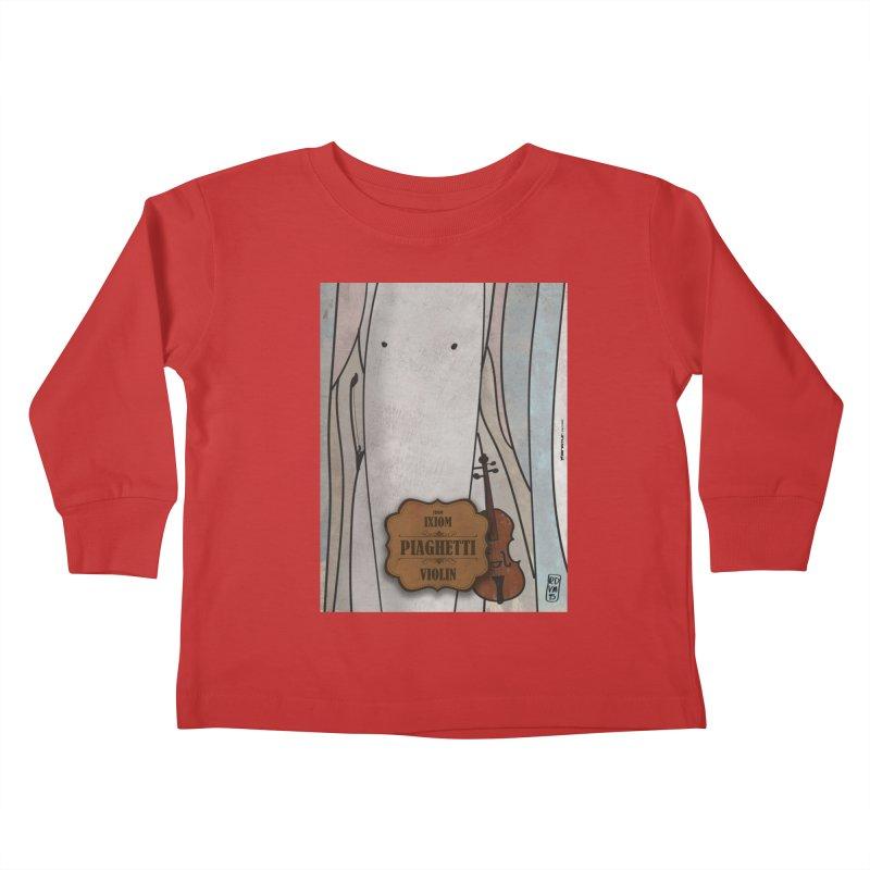 PIAGHETTI_Violin Kids Toddler Longsleeve T-Shirt by ZEROSTILE'S ARTIST SHOP