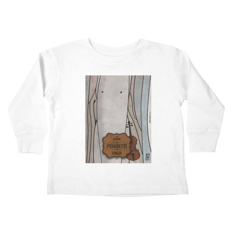 PIAGHETTI_Violin Kids Toddler Longsleeve T-Shirt by ZEROSTILE'S ARTIST SHOP
