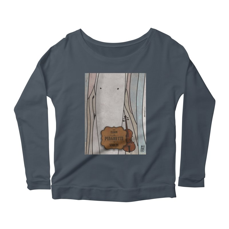 PIAGHETTI_Violin Women's Scoop Neck Longsleeve T-Shirt by ZEROSTILE'S ARTIST SHOP