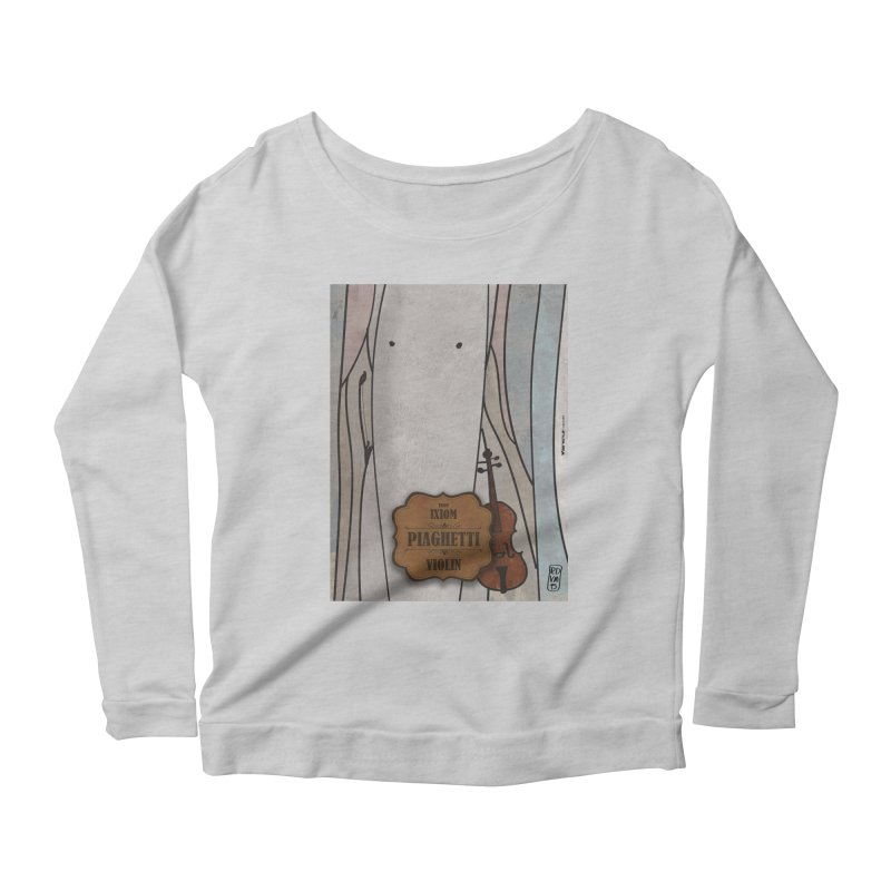 PIAGHETTI_Violin Women's Scoop Neck Longsleeve T-Shirt by ZEROSTILE'S ARTIST SHOP