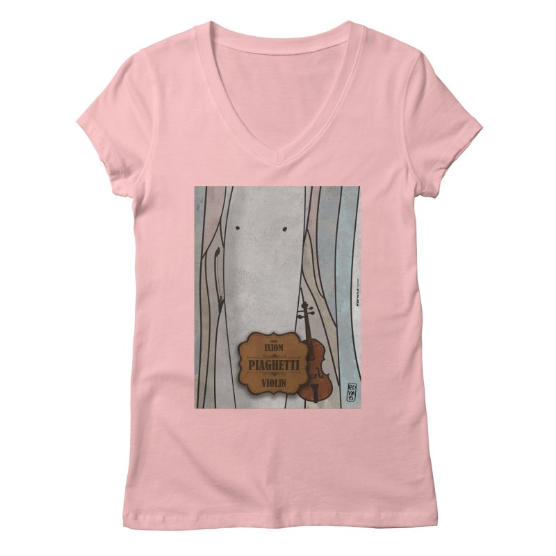 PIAGHETTI_Violin Women's Regular V-Neck by ZEROSTILE'S ARTIST SHOP