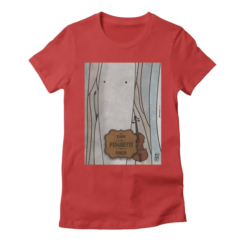 PIAGHETTI_Violin Women's Fitted T-Shirt by ZEROSTILE'S ARTIST SHOP