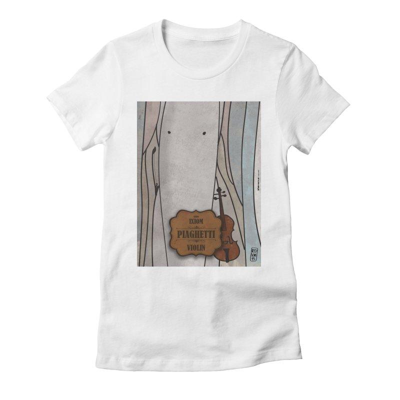 PIAGHETTI_Violin Women's Fitted T-Shirt by ZEROSTILE'S ARTIST SHOP