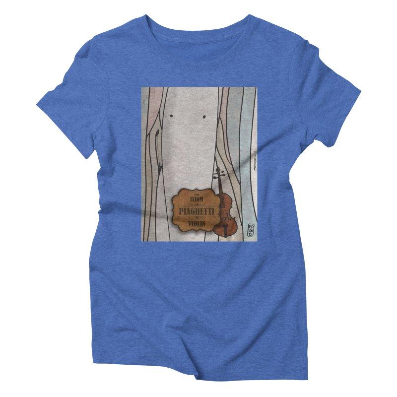 PIAGHETTI_Violin Women's Triblend T-Shirt by ZEROSTILE'S ARTIST SHOP