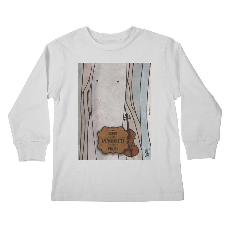 PIAGHETTI_Violin Kids Longsleeve T-Shirt by ZEROSTILE'S ARTIST SHOP