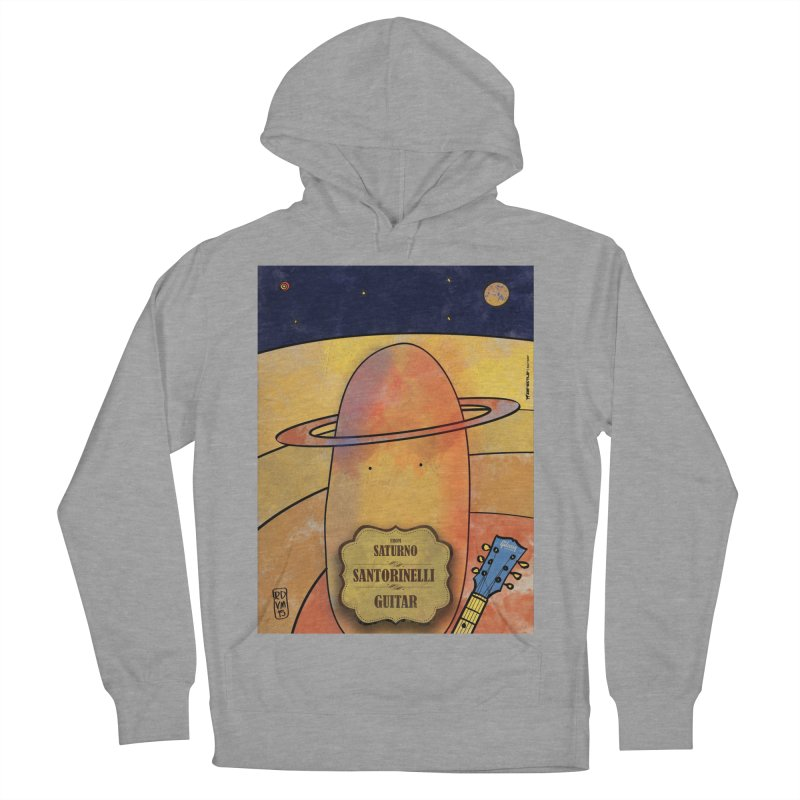 SANTORINELLI_Guitar Men's French Terry Pullover Hoody by ZEROSTILE'S ARTIST SHOP