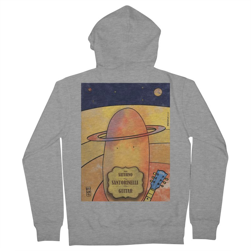 SANTORINELLI_Guitar Women's French Terry Zip-Up Hoody by ZEROSTILE'S ARTIST SHOP