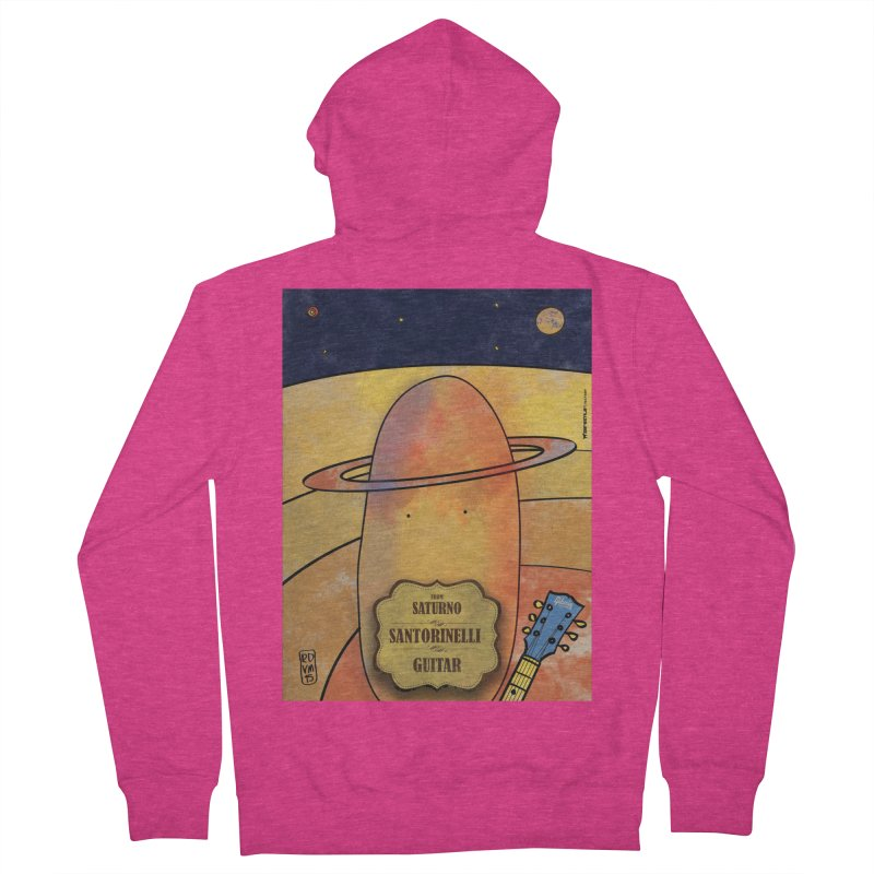 SANTORINELLI_Guitar Women's Zip-Up Hoody by ZEROSTILE'S ARTIST SHOP