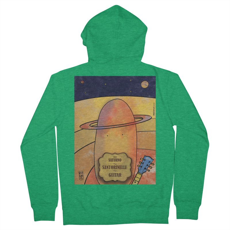 SANTORINELLI_Guitar Men's Zip-Up Hoody by ZEROSTILE'S ARTIST SHOP
