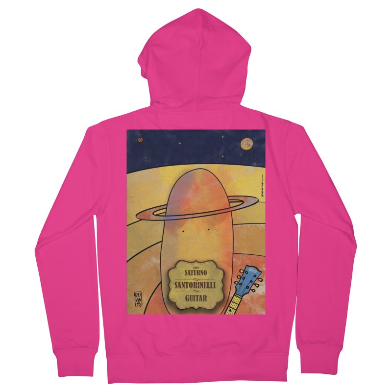 SANTORINELLI_Guitar Men's French Terry Zip-Up Hoody by ZEROSTILE'S ARTIST SHOP