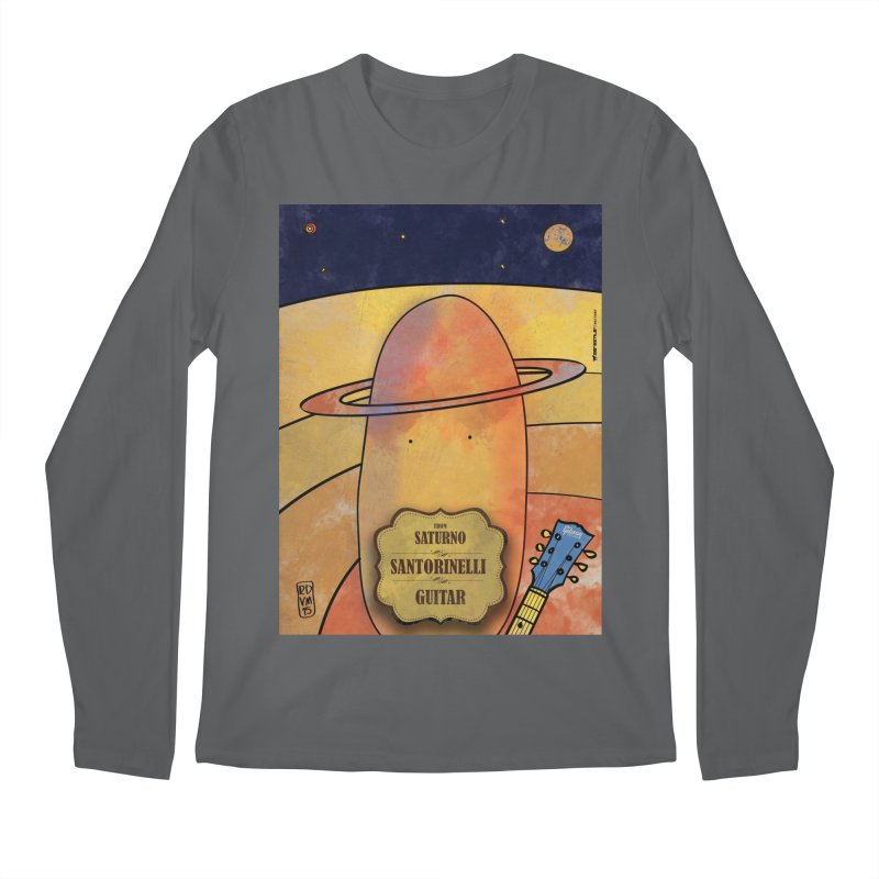 SANTORINELLI_Guitar Men's Longsleeve T-Shirt by ZEROSTILE'S ARTIST SHOP
