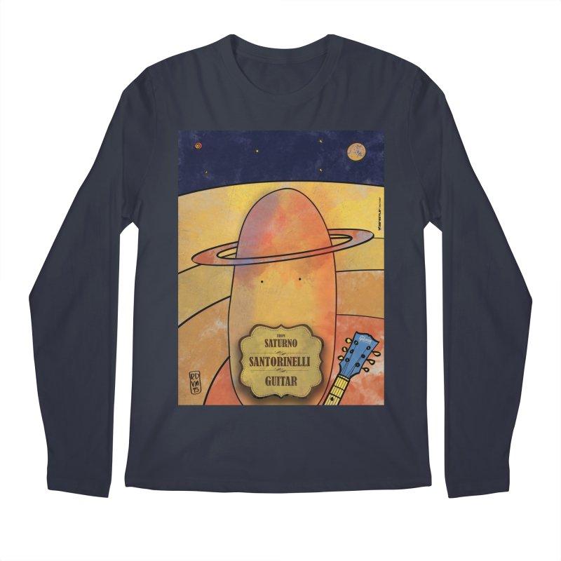 SANTORINELLI_Guitar Men's Regular Longsleeve T-Shirt by ZEROSTILE'S ARTIST SHOP