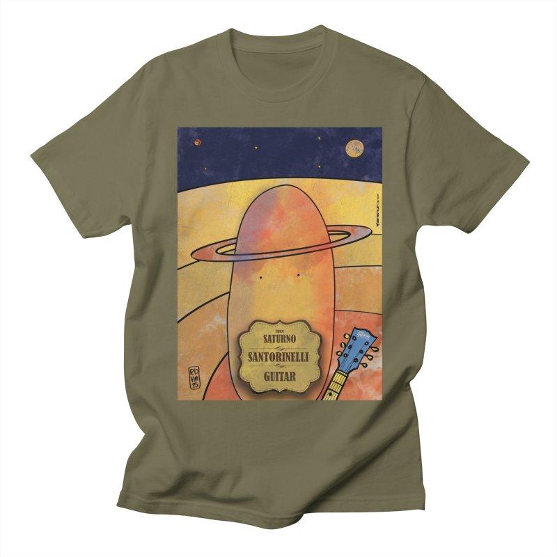 SANTORINELLI_Guitar Men's T-Shirt by ZEROSTILE'S ARTIST SHOP