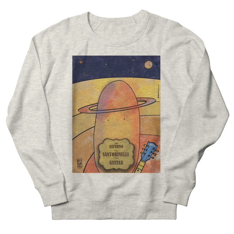 SANTORINELLI_Guitar Women's French Terry Sweatshirt by ZEROSTILE'S ARTIST SHOP
