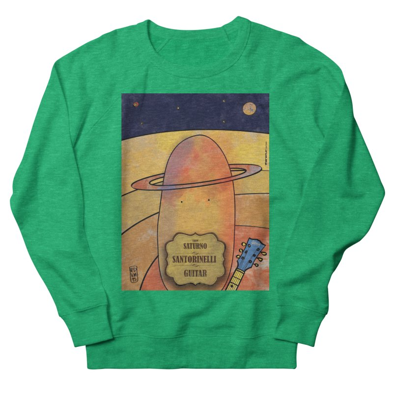 SANTORINELLI_Guitar Men's French Terry Sweatshirt by ZEROSTILE'S ARTIST SHOP