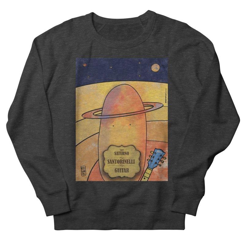 SANTORINELLI_Guitar Men's French Terry Sweatshirt by ZEROSTILE'S ARTIST SHOP