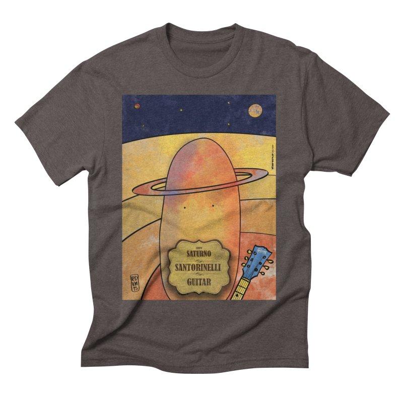 SANTORINELLI_Guitar Men's Triblend T-Shirt by ZEROSTILE'S ARTIST SHOP