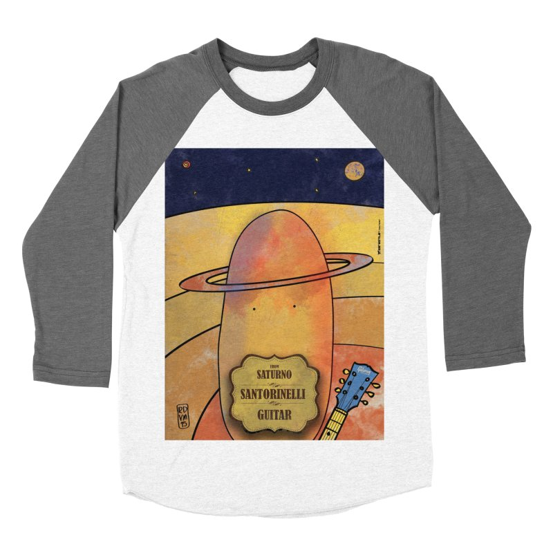 SANTORINELLI_Guitar Women's Baseball Triblend Longsleeve T-Shirt by ZEROSTILE'S ARTIST SHOP