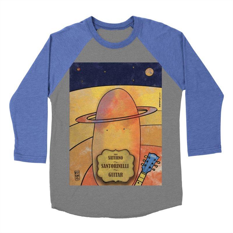 SANTORINELLI_Guitar Men's Baseball Triblend Longsleeve T-Shirt by ZEROSTILE'S ARTIST SHOP