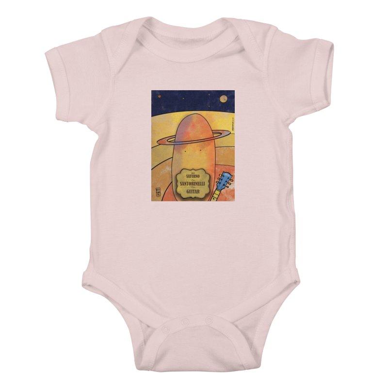 SANTORINELLI_Guitar Kids Baby Bodysuit by ZEROSTILE'S ARTIST SHOP