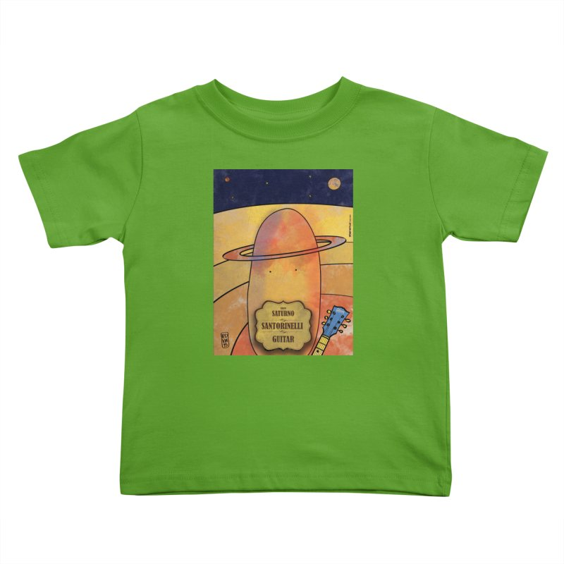 SANTORINELLI_Guitar Kids Toddler T-Shirt by ZEROSTILE'S ARTIST SHOP