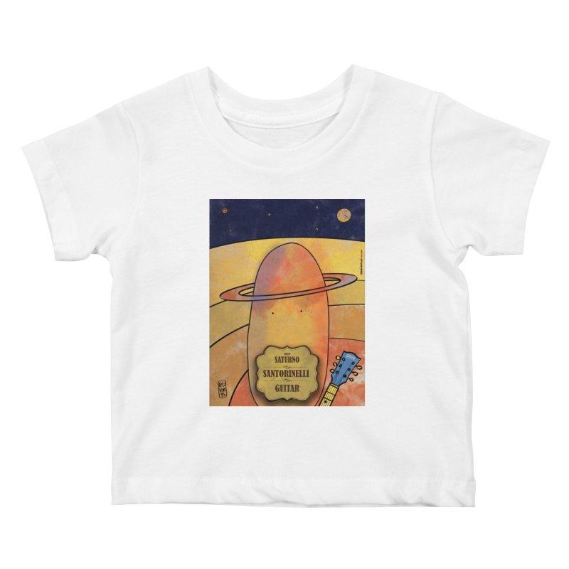 SANTORINELLI_Guitar Kids Baby T-Shirt by ZEROSTILE'S ARTIST SHOP