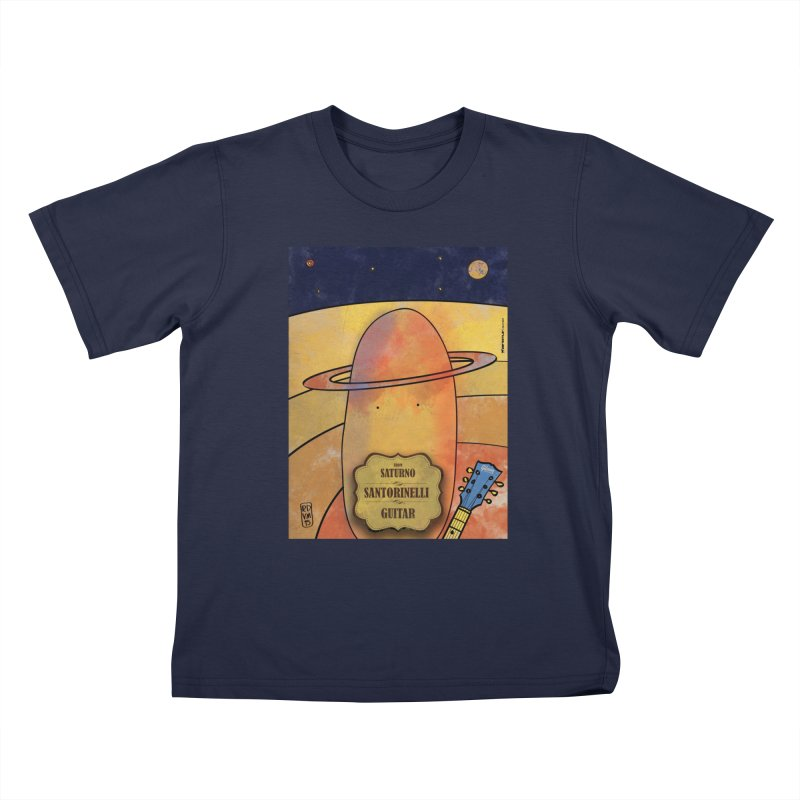 SANTORINELLI_Guitar Kids T-Shirt by ZEROSTILE'S ARTIST SHOP